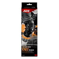 ACE Brand Adjustable Hinged Knee Brace, Low-Profile, Moisture Wicking