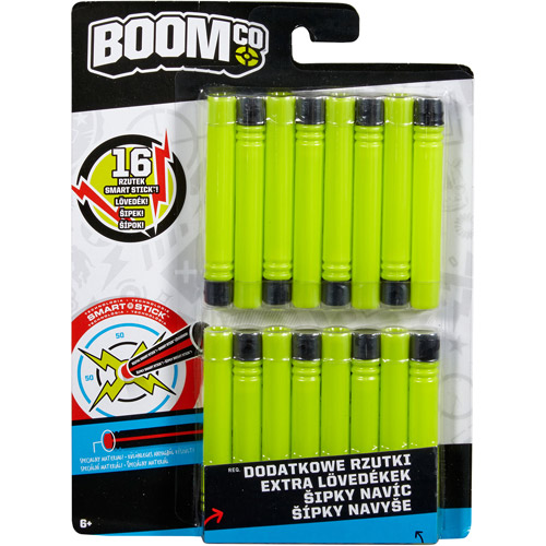BOOMco. Dart, Green with Black Tip, 16-Pack