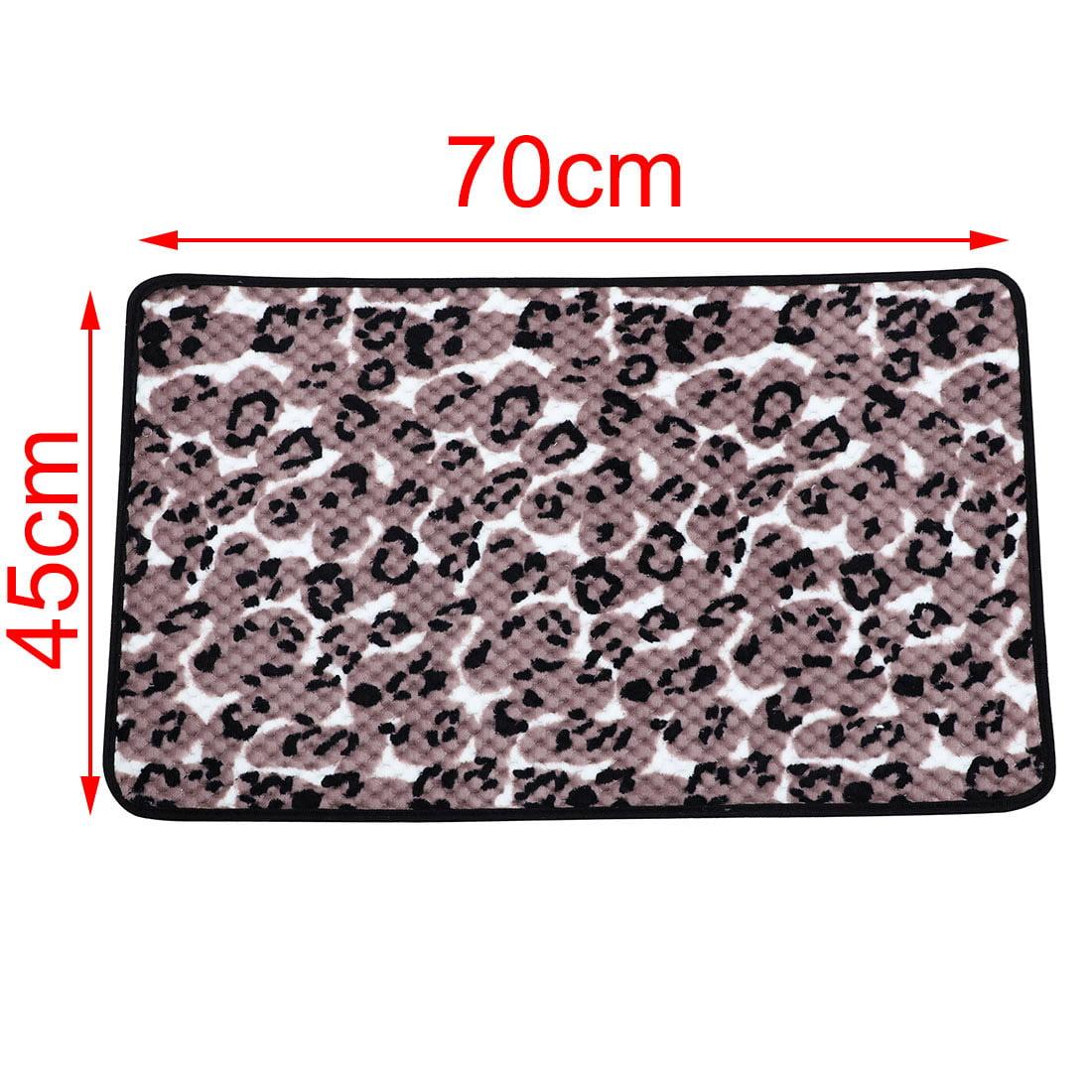 Leopard Print Kitchen Floor Mat Area Rug Carpet 70cm x 45cm Rosy Brown Black