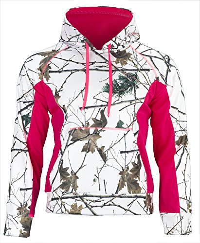 Trail Crest Women's Snow Camo Soft Shell Hooded Jacket, S...