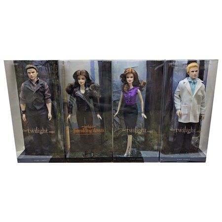 Twilight | Bella - Esmee - Emmett - Carlisle | Vampire Barbie Pink Label Dolls | Cullen Family Collector Set | Toys Figures Movie Merchandise Collectibles (Doll Movi)