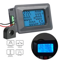 TSV 100A LCD Digital Volt Watt Power Energy Frequency Meter Kwh Ammeter Voltmeter With Shunt