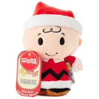peanuts charlie brown holiday itty bittys stuffed animal limited edition itty bittys movies & tv