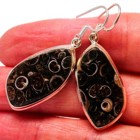 Turritella Agate Earrings 1 3/4