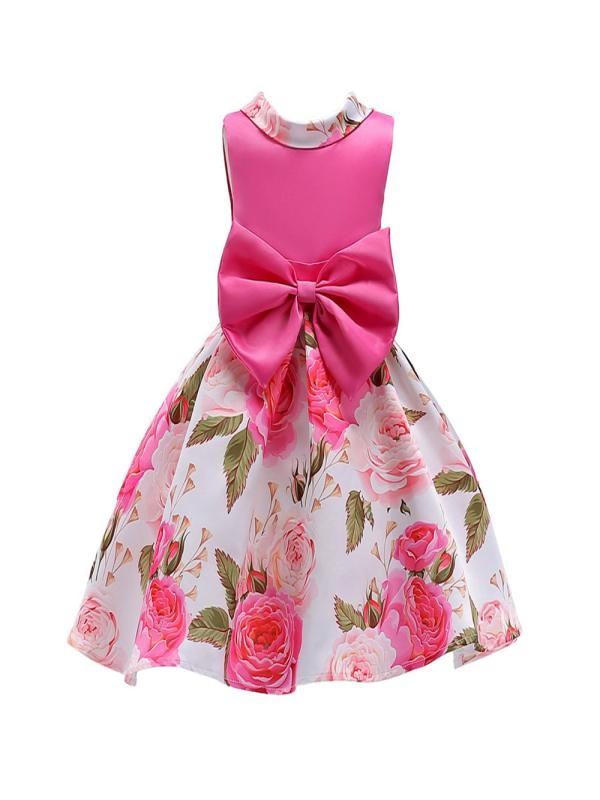 Outtop Toddler Kids Baby Girl Clothes Bowknot Wedding Bridesmaid Pageant Princess Dress
