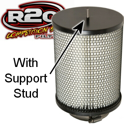 R2C Cleanable Off Road Series Barrel Air Filter 4 Inch Outlet 7.25 Base 7.25 Top 18 Tall