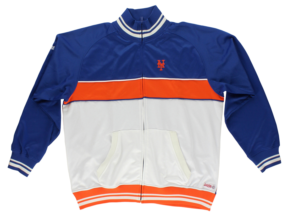 Stitches Mens New York Mets Baseball Jacket Blue by