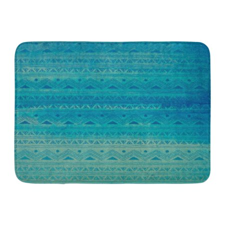 GODPOK Ombre Colorful Aztec Abstract Watercolor in Blue and Turquoise with Tribal Ocean Brush Rug Doormat Bath Mat 23.6x15.7 inch Blue Birds Door Mat