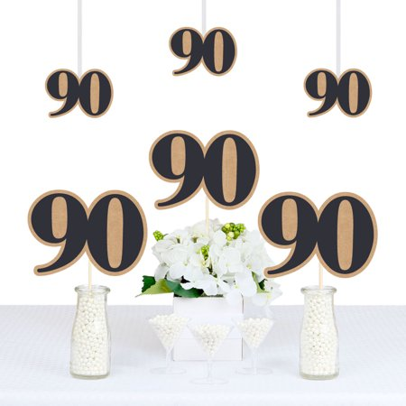 90th Milestone Birthday - Dashingly Aged to Perfection - Decorations DIY Party Essentials - Set of 20](90th Birthday Balloons)