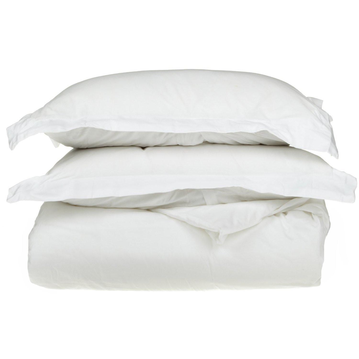 Superior 1500 Thread Count Single-Ply Egyptian Cotton Solid Duvet Cover Set