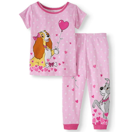 Lady & The Tramp Cotton tight fit pajamas, 2pc set (baby girls)](Girls Button Up Pajamas)