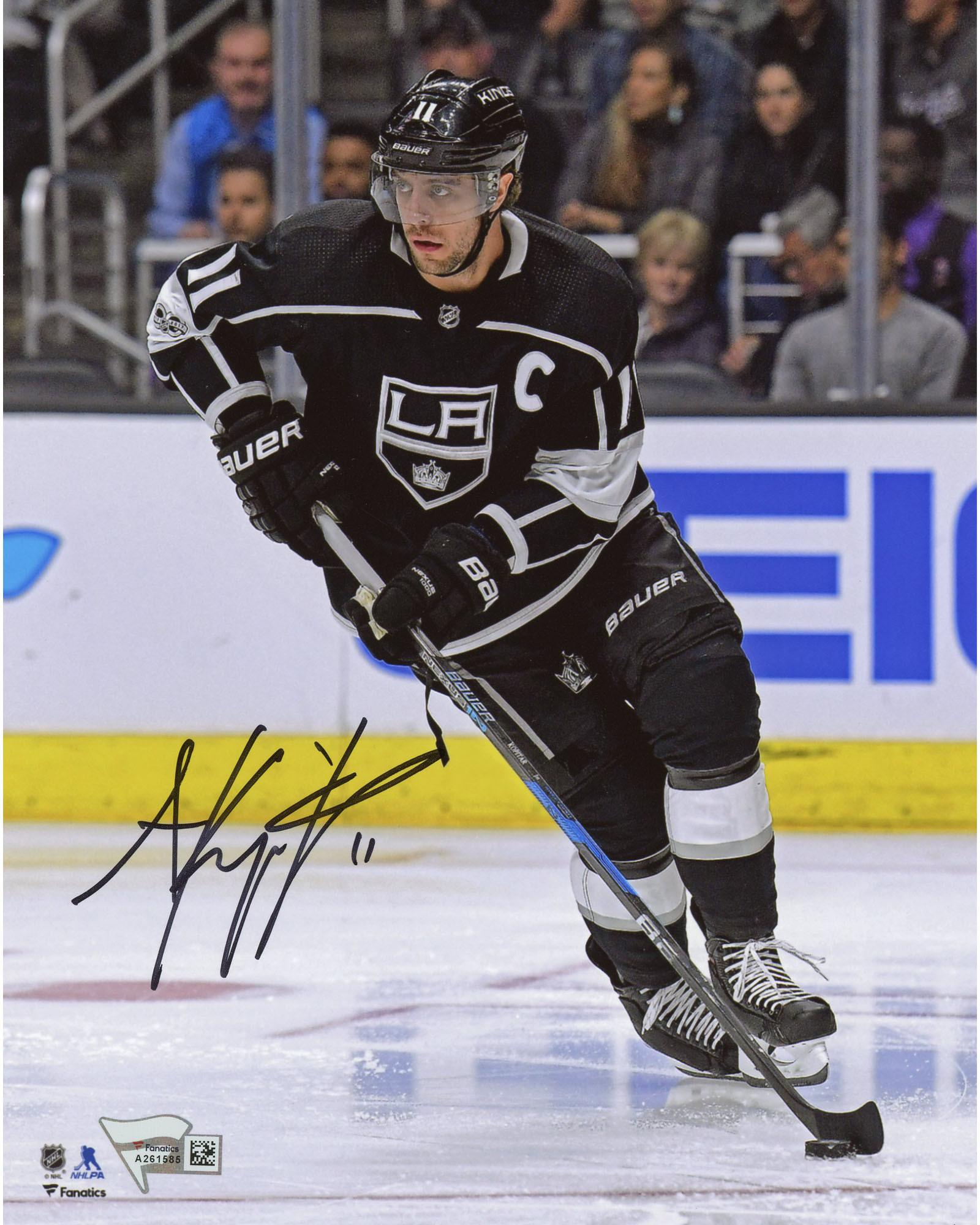 "Anze Kopitar Los Angeles Kings Autographed 8"" x 10"" Black Jersey Skating Photograph Fanatics Authentic... by Fanatics Authentic"
