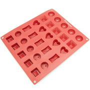 freshware 30 cavity silicone mold for assorted chocolate candy gummy and jelly