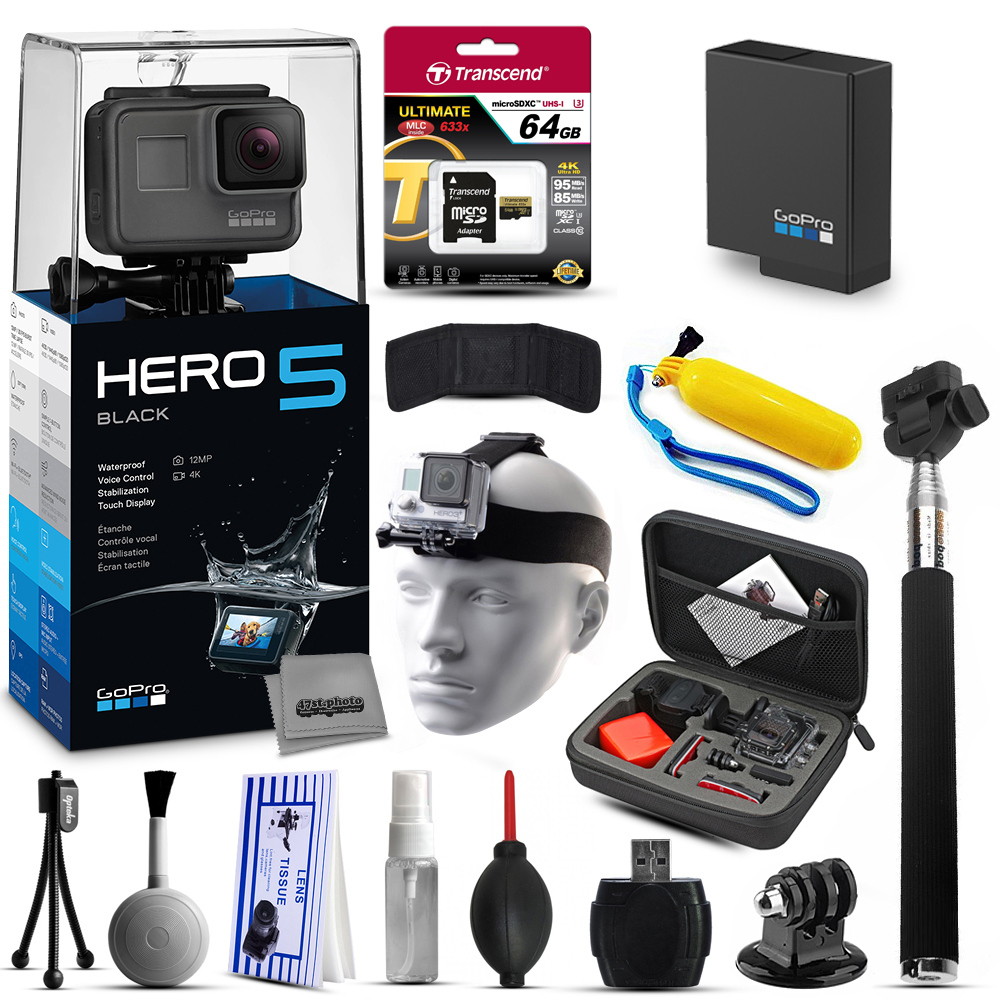 GoPro HERO5 Black CHDHX-501 with 64GB Ultra Memory + Prem...