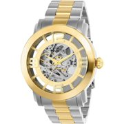 Invicta Men's Vintage Gold-Tone Steel Bracelet & Case Flame-Fusion Crystal Automatic Analog Watch 22583