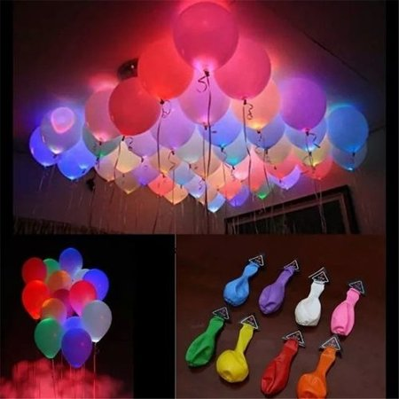 5PCs LED Balloon Light balloon 12 Inches Latex Multicolor Helium Balloon Christmas Hollween Decor Wedding Party ballon led - Helium Ballons