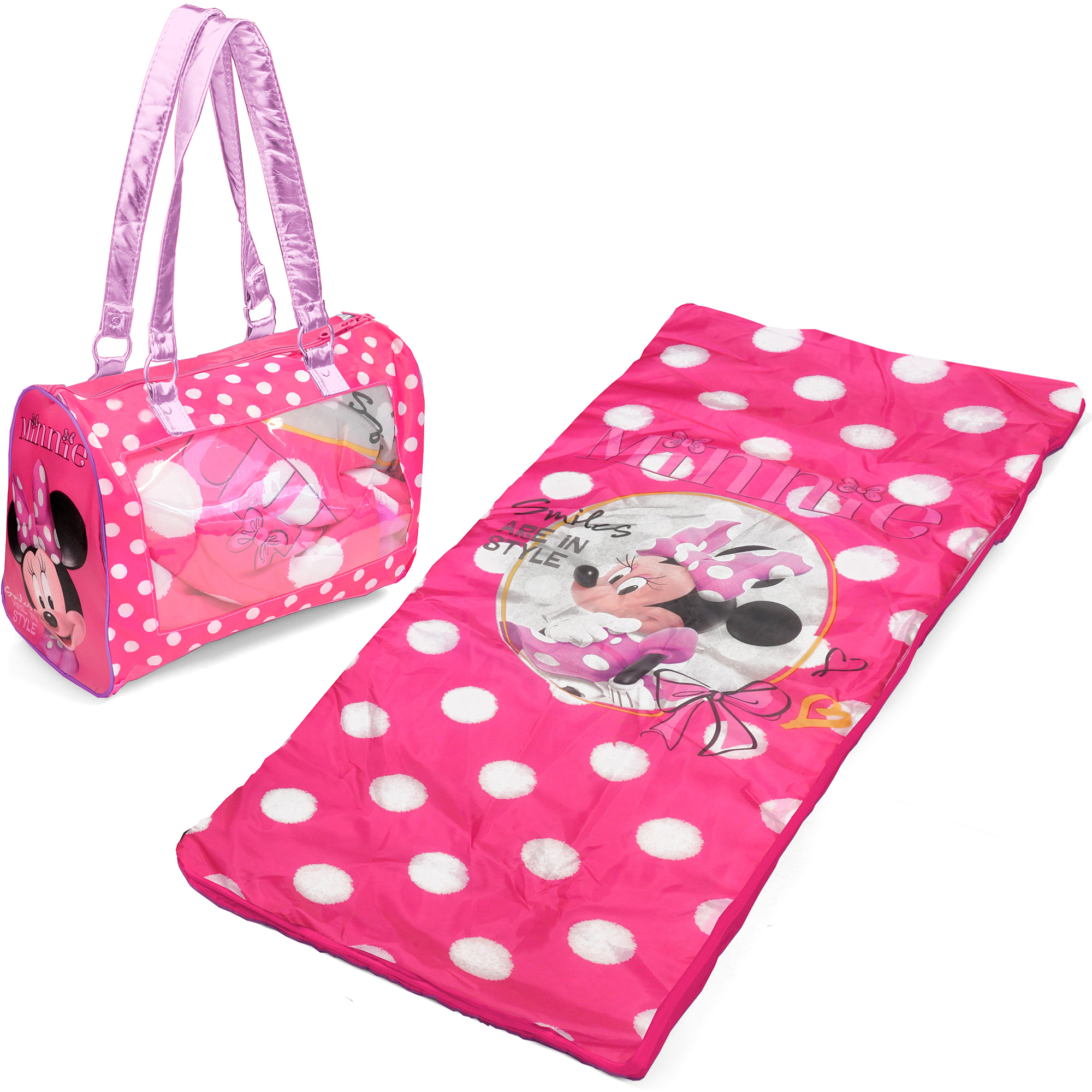 Disney Minnie Mouse Toddler Sleepover Set/Nap Mat with Duffle