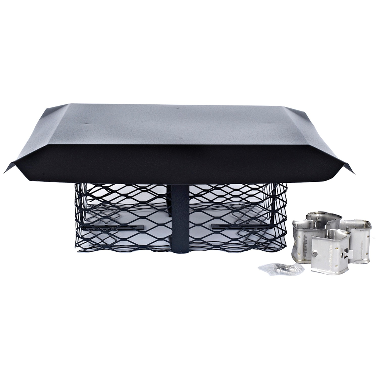 Shelter Scadj L Single Flue Adjustable Black Galvanized