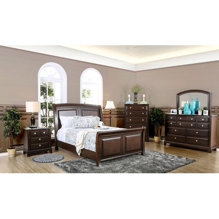 Contemporary master bedroom furniture new eastern king - King size bedroom set with mirror headboard ...