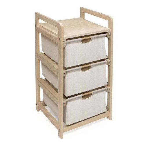 3 Drawer Hamper Storage Unit, Natural, Three handy drawers for sorting and separating^Lightweight and suited to any room... by