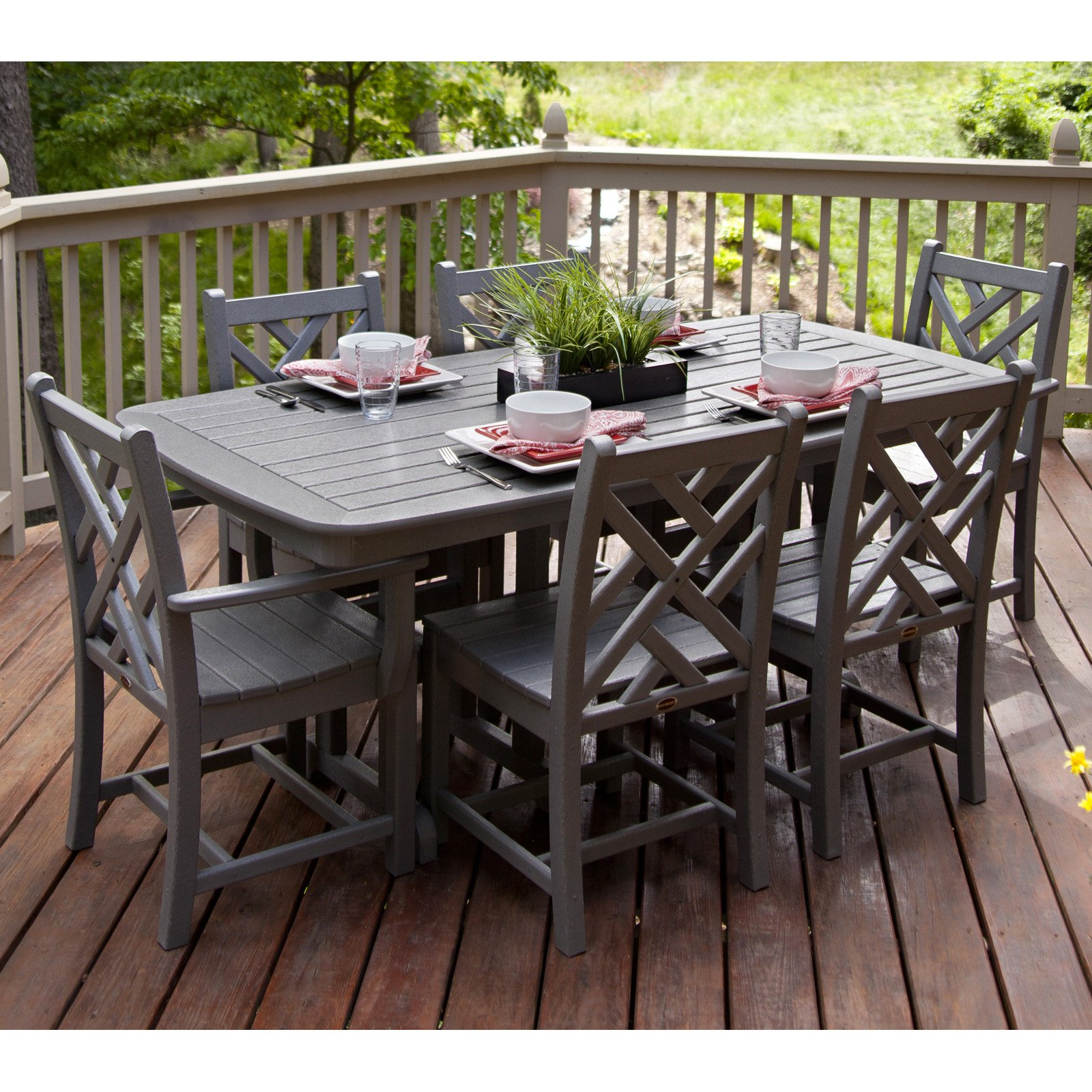POLYWOOD® Chippendale Dining Set - Seats 6