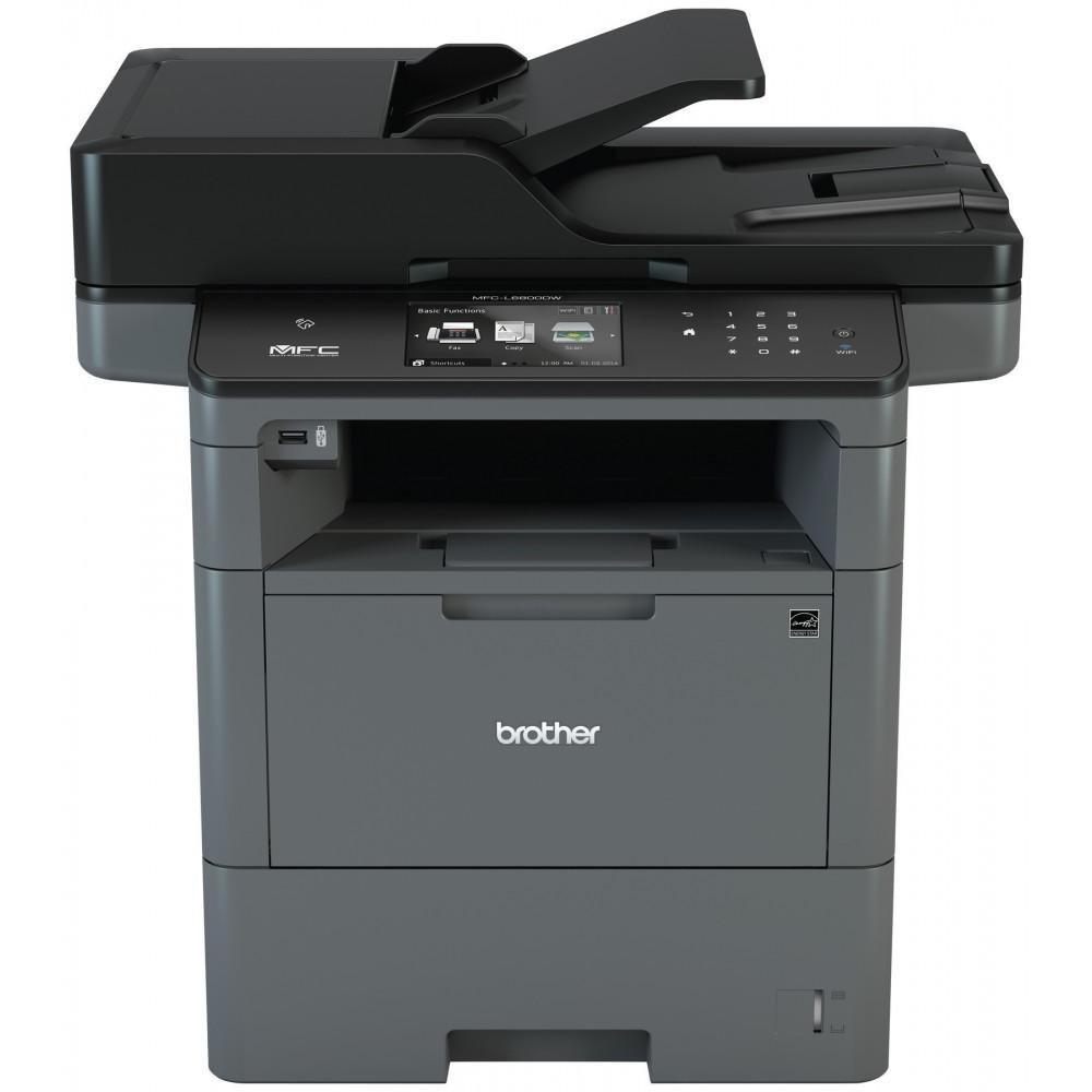 Brother Monochrome Laser Multifunction All-in-One Printer, MFC-L6800DW, Wireless Networking, Mobile Printing & Scanning, Duplex Print & Scan & Copy