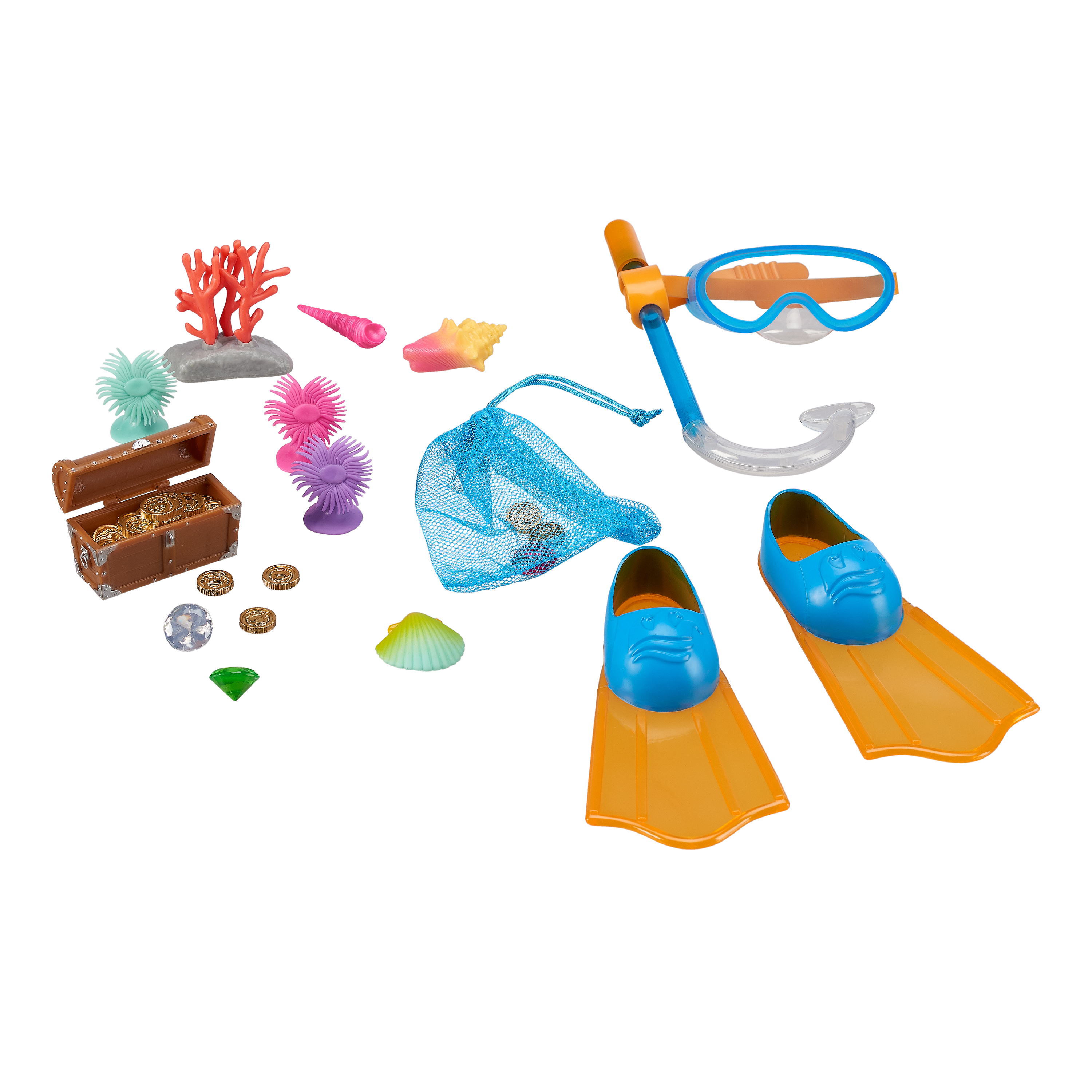My Life As Snorkel Toy Accessories Play Set for 18-inch Dolls, 20 Pieces