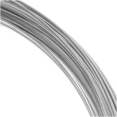 Beadalon 16 Gauge Round Wire, 1.75 Meter / 5.74 Foot Coil, Stainless Steel 15mm Round Wire