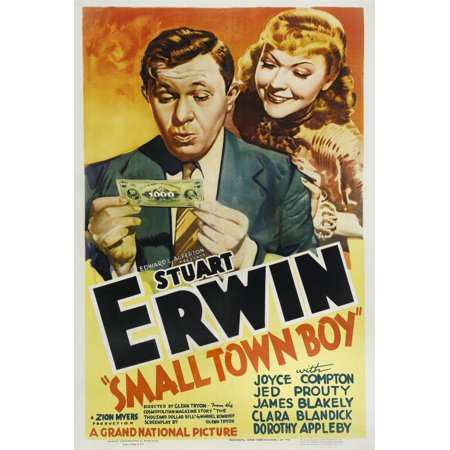 Small Town Boy From Left Stuart Erwin Joyce Compton 1937 Movie Poster Masterprint - Compton Town Center