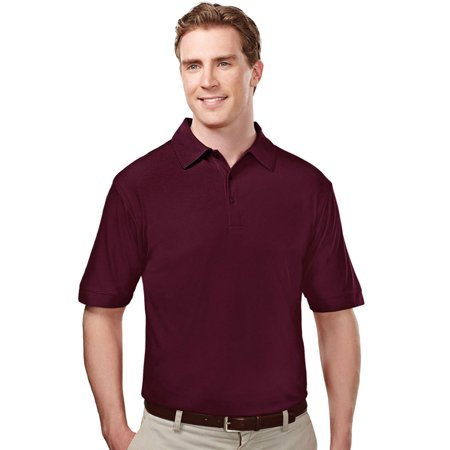 Tri Mountain Mens Big And Tall Waffle Knit Golf Shirt