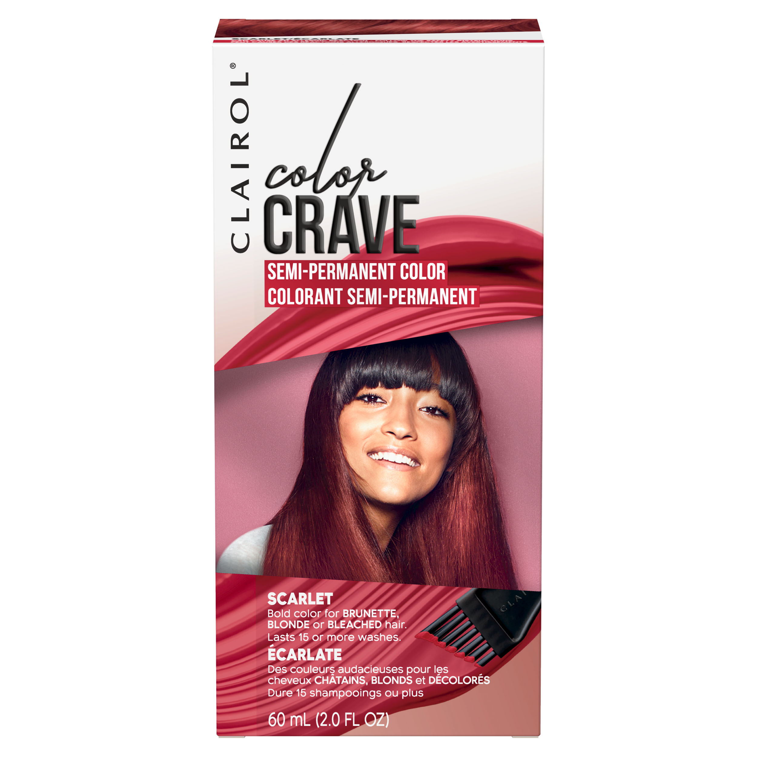 Clairol Color Crave Semi-Permanent Hair Color, Flamingo, 2 fl oz