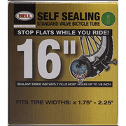"""Bell Sports Self-Sealing Schrader Bicycle Inner Tube, 16"""" x 1.75""""-2.25"""""""