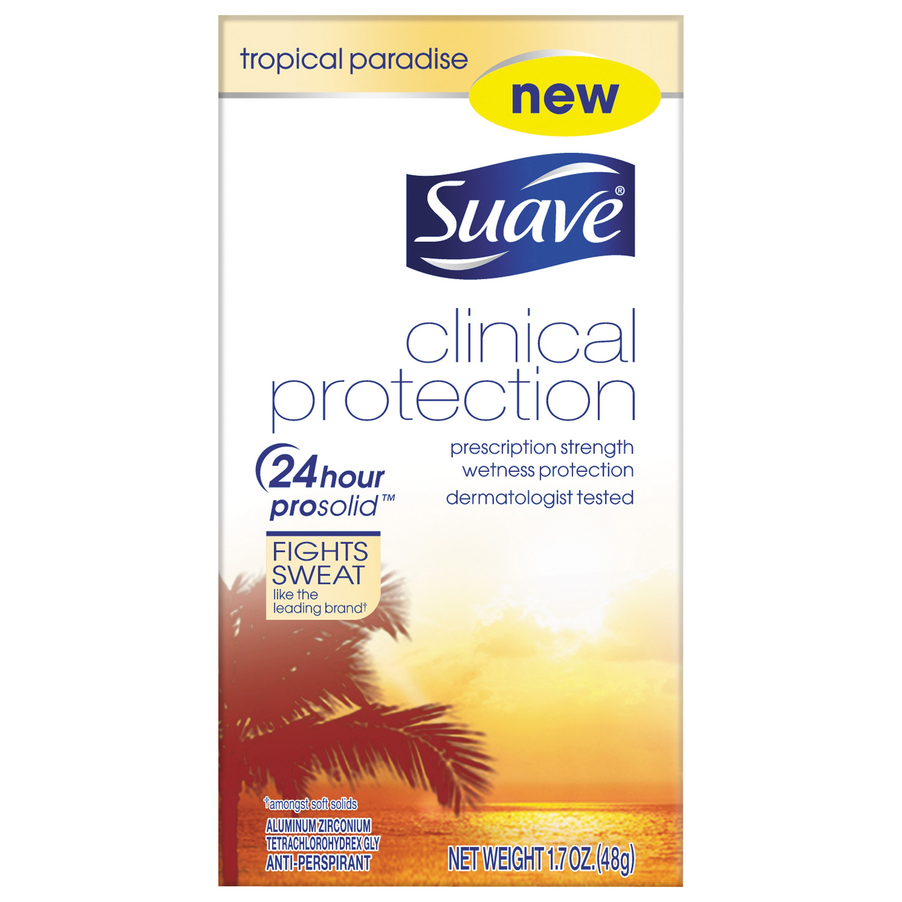 Suave Clinical Antiperspirant Deodorant Lavendar Fresh 1.7 oz
