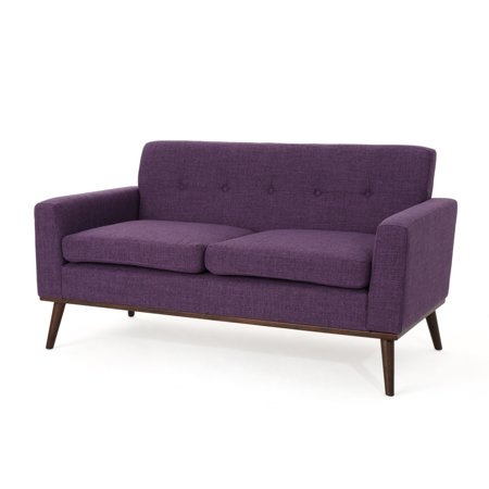 Outstanding Sophia Mid Century Modern Fabric Loveseat Purple Lamtechconsult Wood Chair Design Ideas Lamtechconsultcom