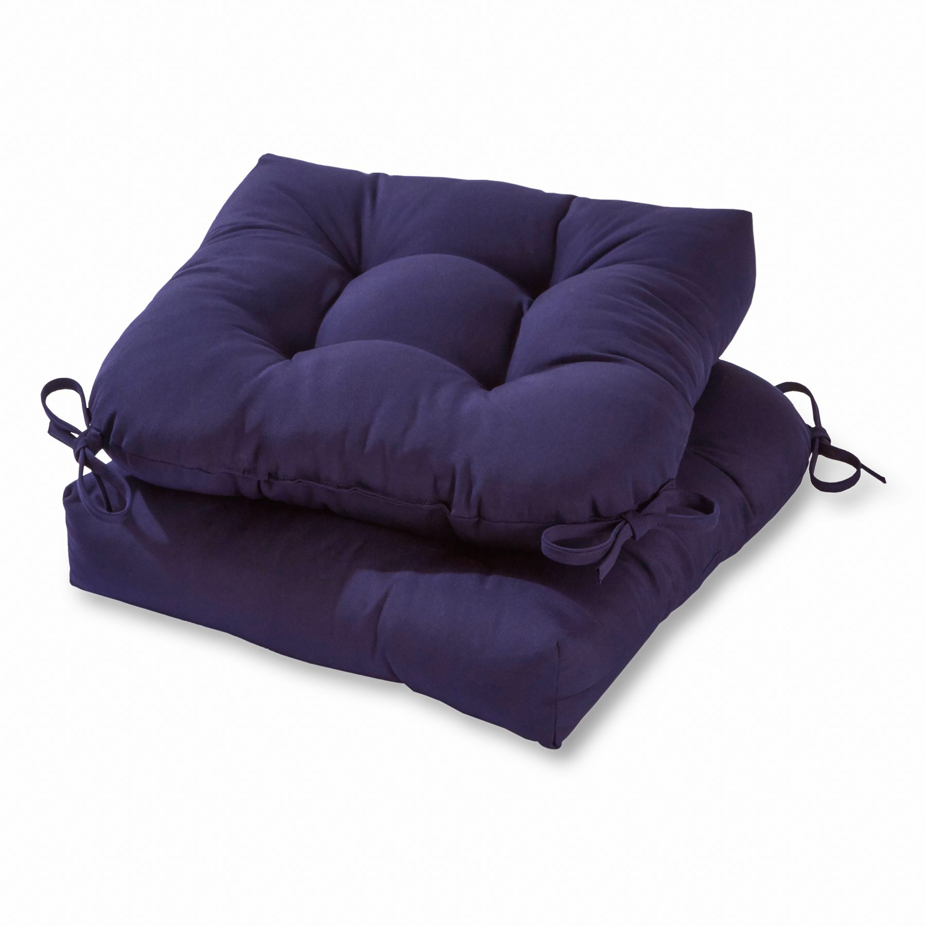 Solid Color 20 in. Plush Outdoor Chair Cushion, Set of 2