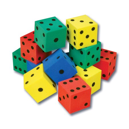 FOAM DOT DICE SET OF 12 (Foam Dot Dice)
