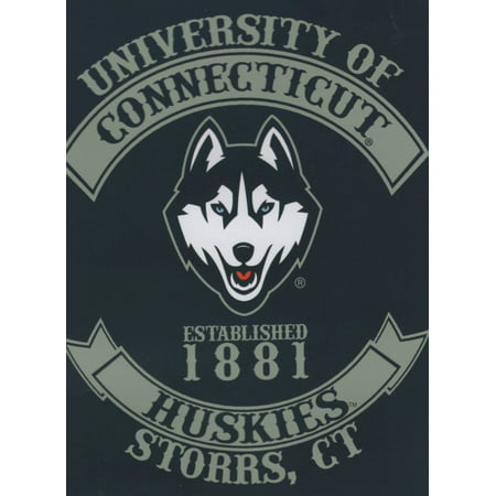 Connecticut UCONN Huskies NCAA Rebel Series Raschel 60x80 Throw/Blanket