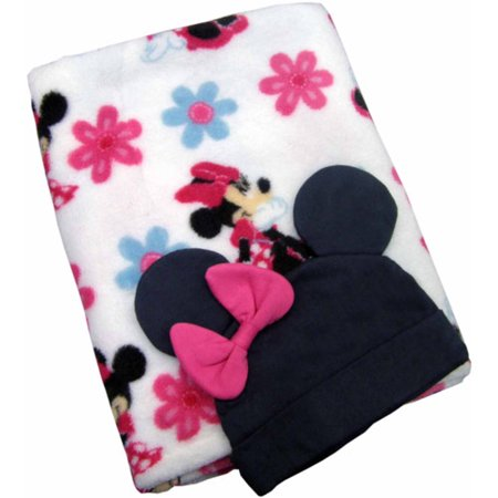 Disney Baby Bedding Minnie Mouse Blanket With Beanie