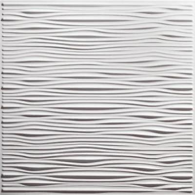 Genesis 2ft x 2ft Drifts White Lay In Ceiling Tile, Case of 12