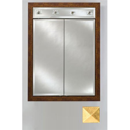 Afina Corporation DD-LC3140RMERSG 31x40 Contemporary Integral Lighted Double Door - Meridian Antique Gold with Silver Caps - image 1 of 1
