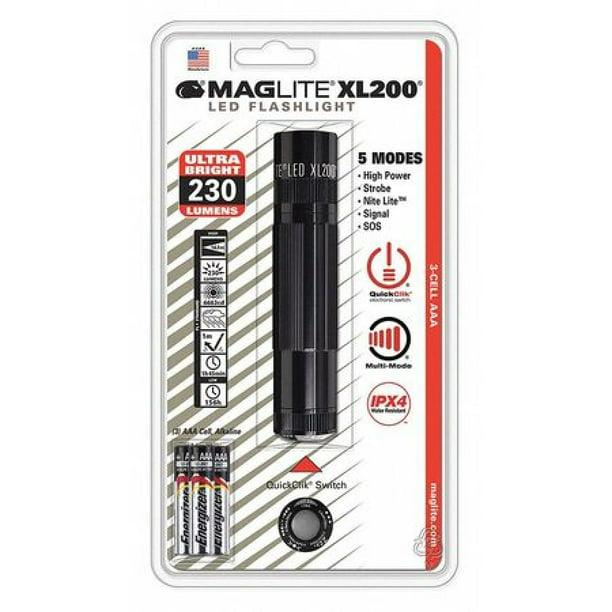 NOIR #XL200-S301C Tactique ACCESSOIRES Maglite XL200 DEL Lampe de poche