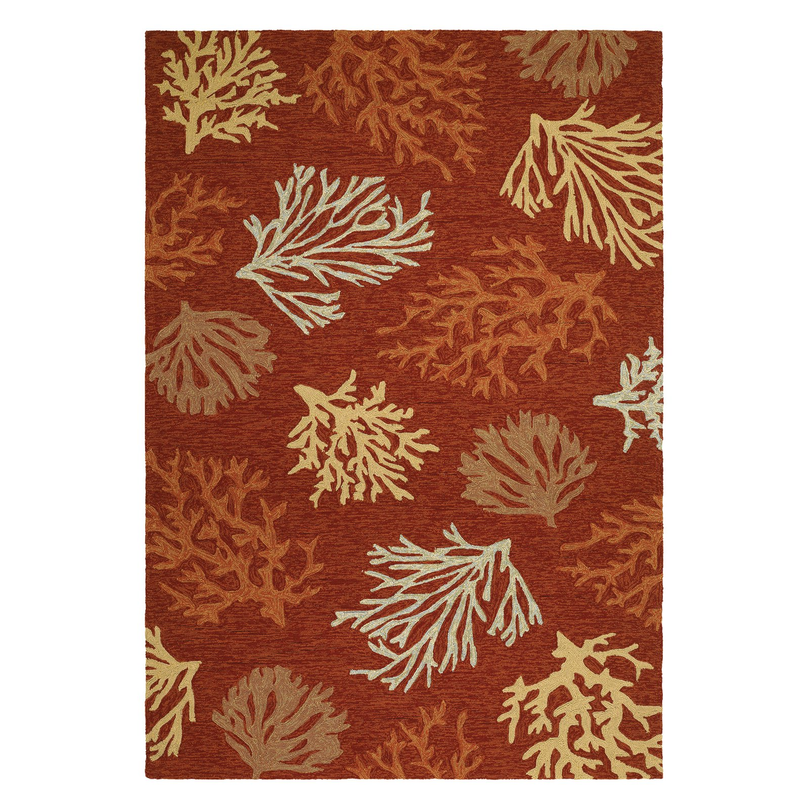 Couristan Outdoor Escape Sea Reef Rug, Terra Cotta