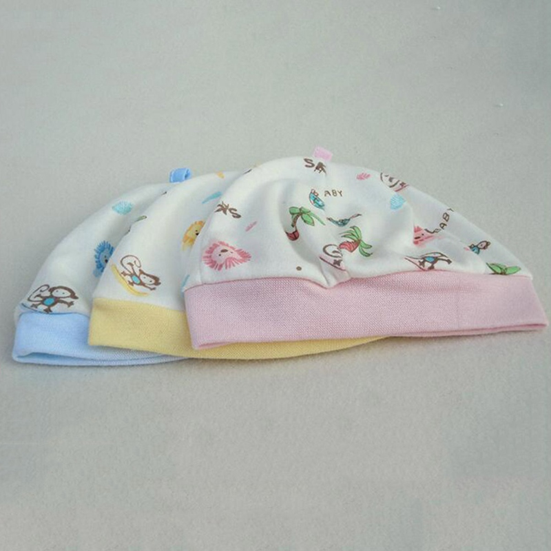 Newborn Cotton Single Layer Tire Cap Infant Child Month Windproof Baby Hat Winter