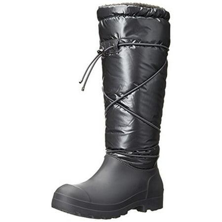 Dirty Laundry Womens Piece O Cake Faux Fur Lined Knee High Rain