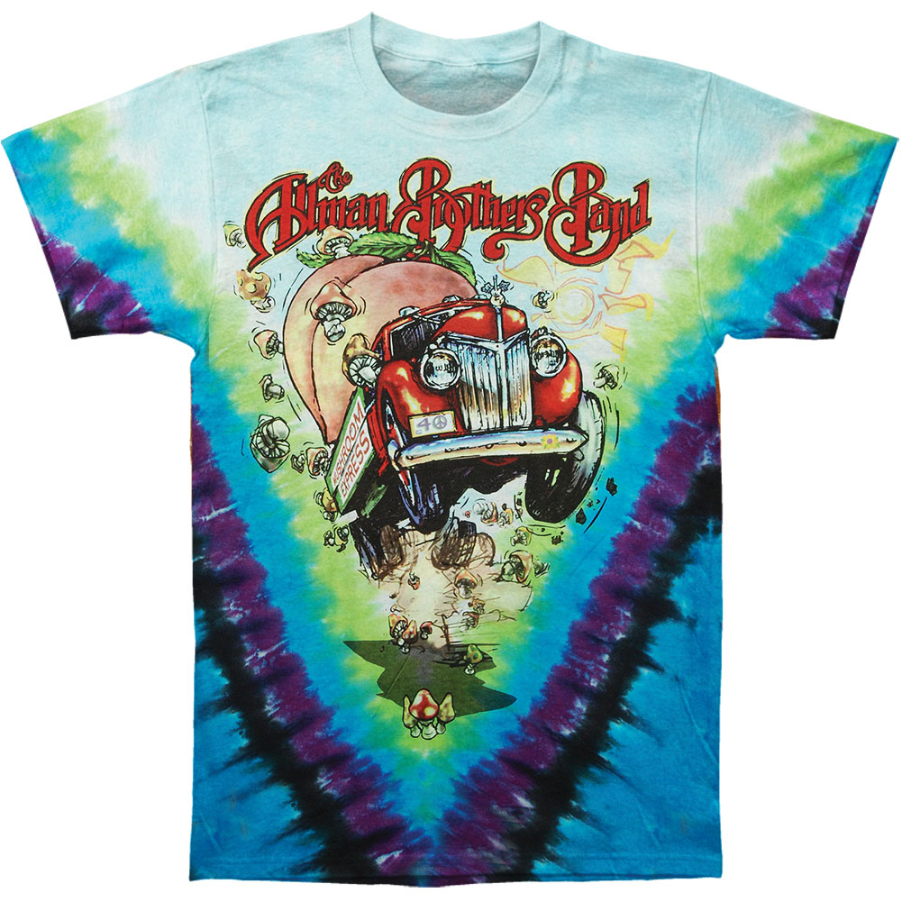 Allman Brothers Men's  Mushroom Express Tie Dye T-shirt Multi