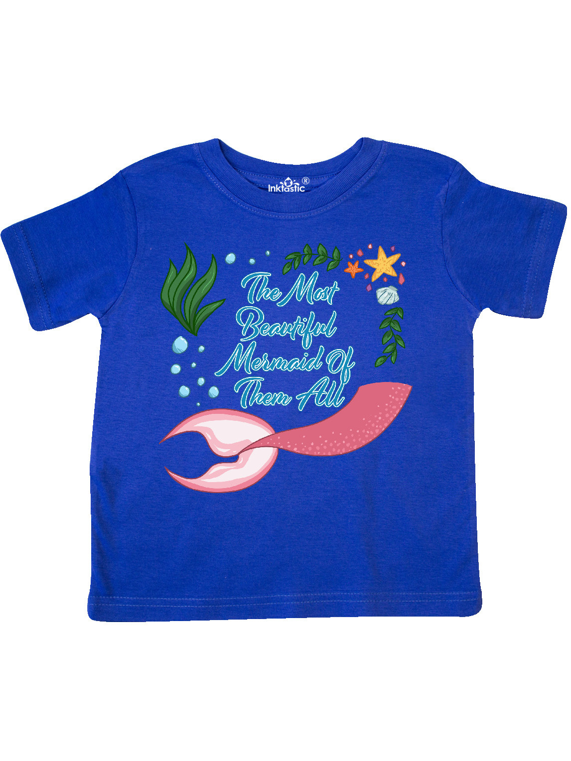 inktastic The Most Beautiful Mermaid of Them Baby T-Shirt 18 Months Light Blue