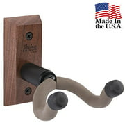 String Swing Wall Mount Guitar Hanger for Acoustic and Electric Guitars- Handmade in the USA - CC01K-BW Black Walnut