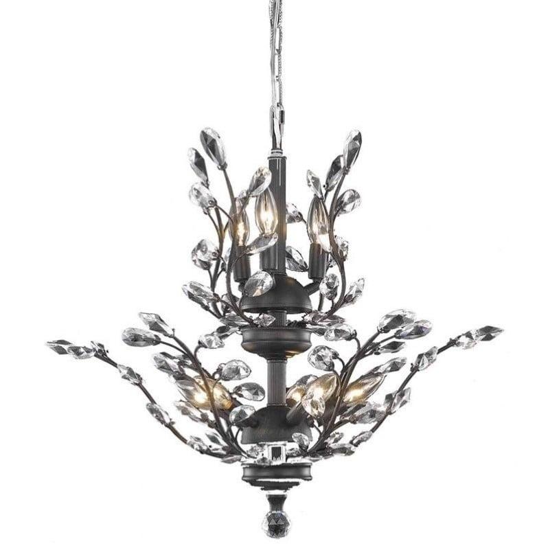Elegant Lighting Orchid 21 8 Light Royal Crystal Chandelier