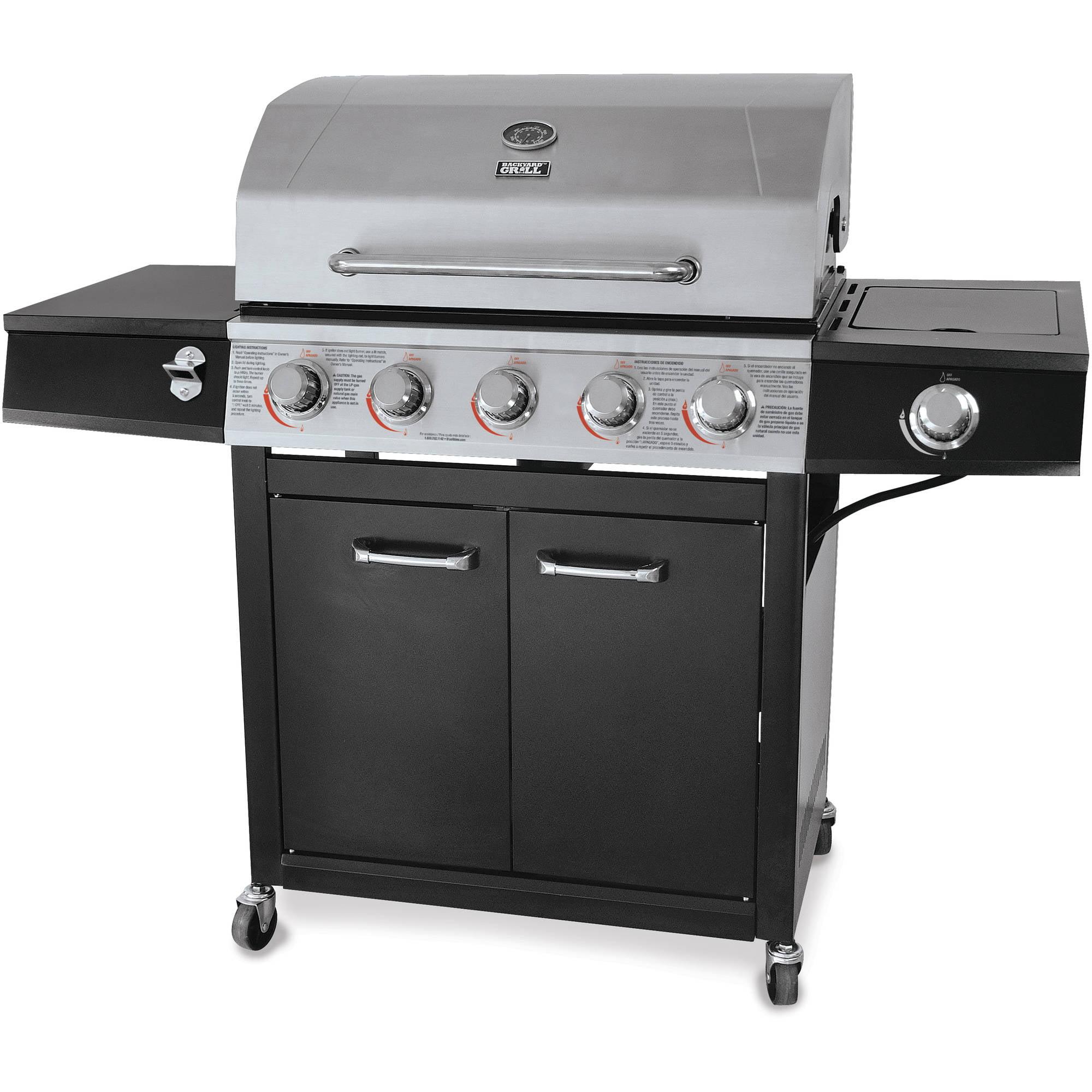 backyard grill 72 000 btu 5 burner gas grill stainless steel