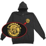Thursday Men's  Zippered Hooded Sweatshirt Black